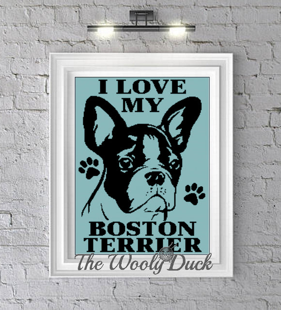 Boston Terrier Crochet Graphghan Pattern