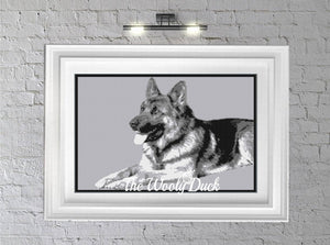 German Shepherd Crochet Graphghan Pattern