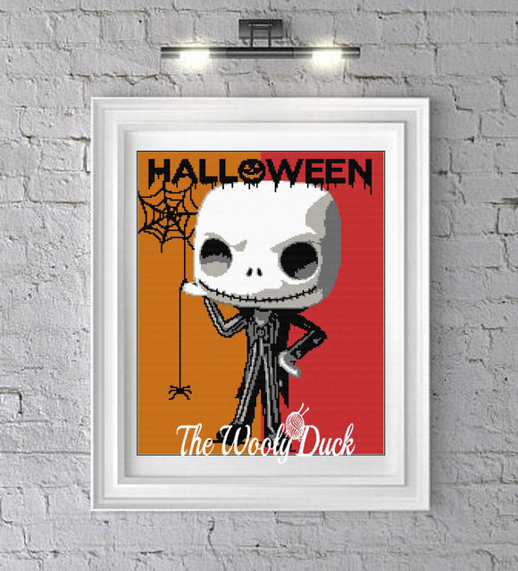Jack Skellington Crochet Graphghan Pattern