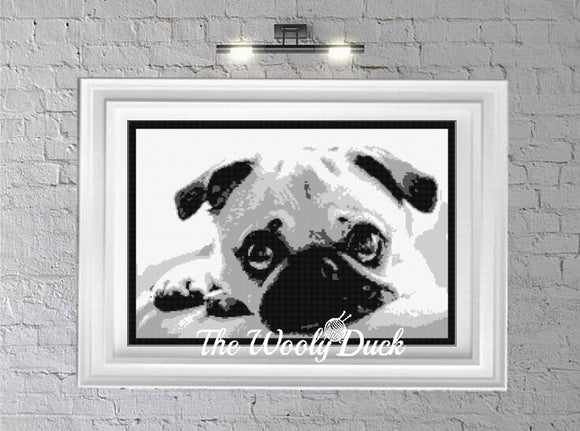 Pug Dog Crochet Graphghan Pattern