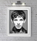 Merlin,( Colin Morgan) 5colours graphghan pattern