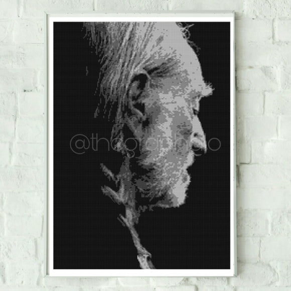 Willie Nelson Crochet Photoghan Pattern 180 x 240 Adult Throw Size