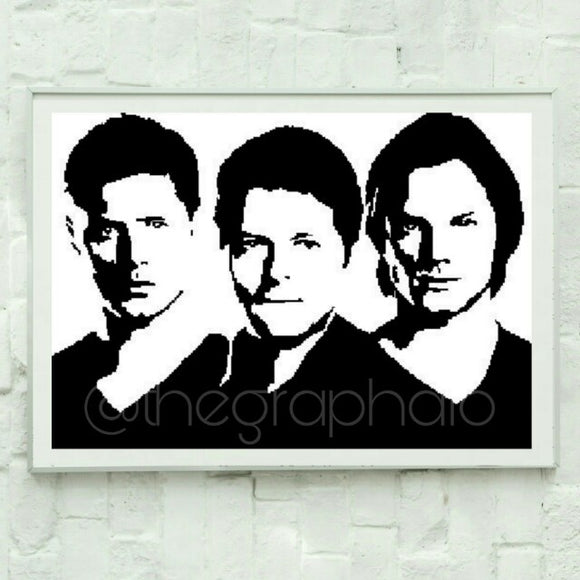 Supernatural Graphghan Crochet Pattern SC 300 x 210