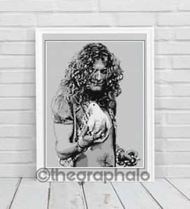 Robert Plant Crochet Photoghan Pattern SC 180 x 260