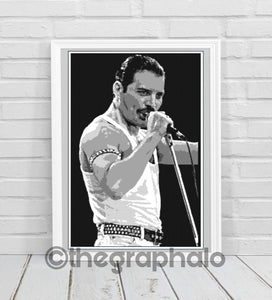 Freddie Mercury Queen Size Crochet Photoghan Pattern SC 200 x 340