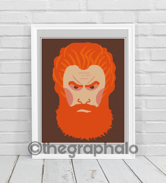 Tormund Giantsbane Crochet Pattern SC 180 x 240
