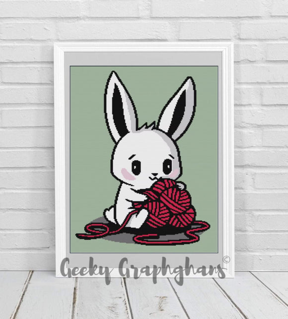Yarn Bunny Crochet Graphghan Pattern
