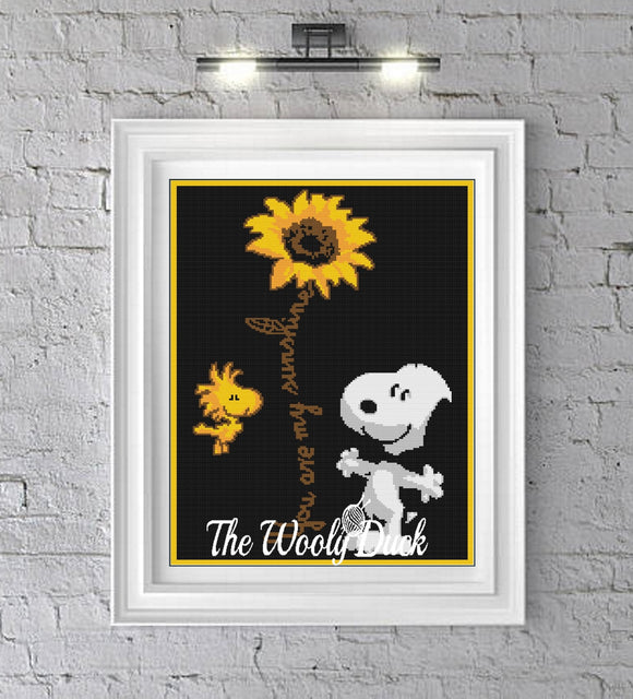 You Are My Sunshine With Snoopy Crochet Graphghan Pattern
