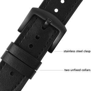 Apple Watch Band | Black Leather / Silicone Fullmosa