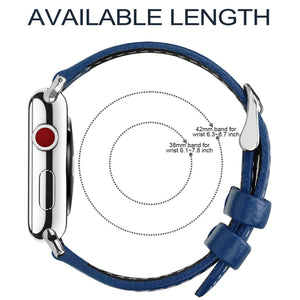 Apple Watch Band | Dark Blue Leather | Leechee Fullmosa