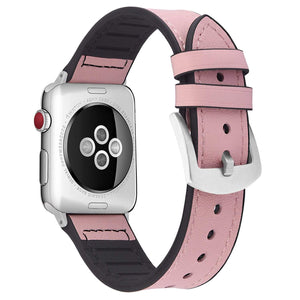 Apple Watch Band | Pink Leather / Silicone Fullmosa