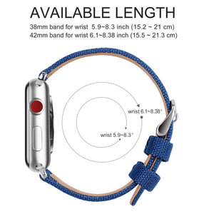 Apple Watch Band | Sapphire Blue Canvas Fullmosa