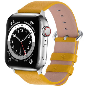 Apple Watch Band | Yellow Leather | Litchi Fullmosa 38mm/40mm
