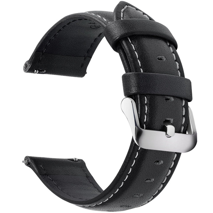 Black Leather | Siliver Buckle Fullmosa 18mm