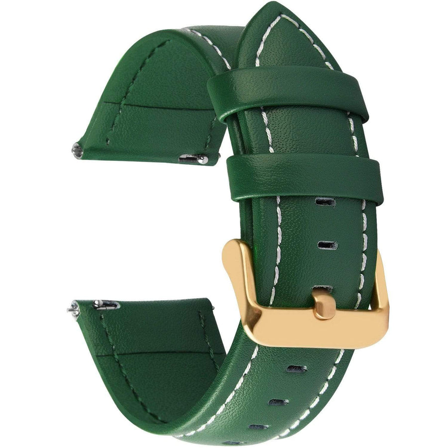 Dark Green Leather | Gold Buckle Fullmosa 18mm