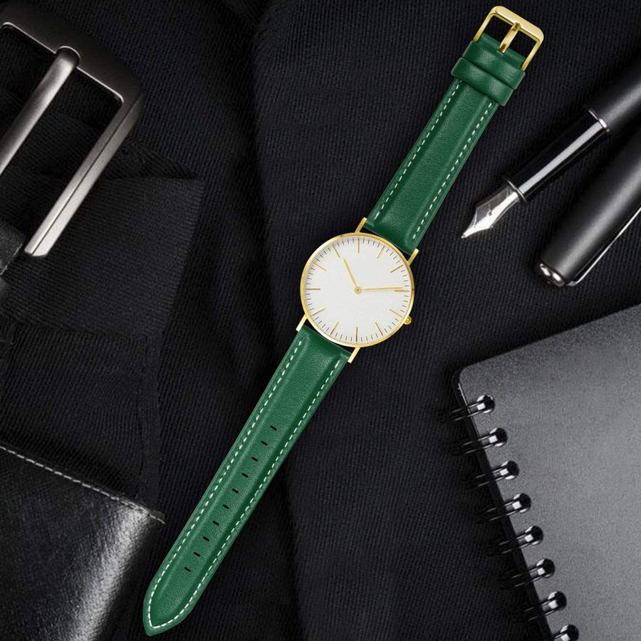 Dark Green Leather | Gold Buckle Fullmosa