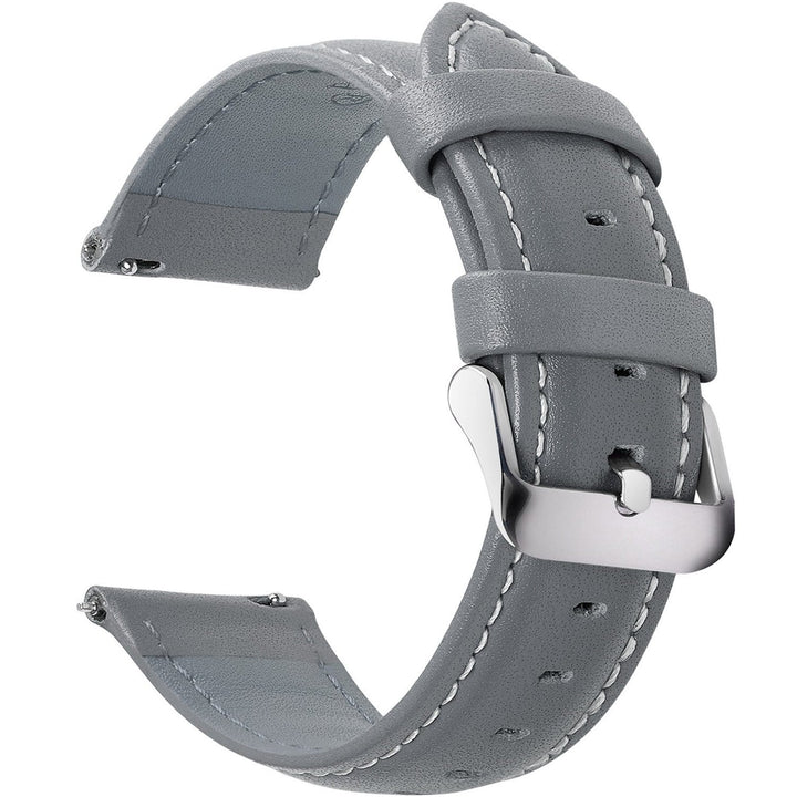 Grey Leather| Siliver Buckle Fullmosa 18mm
