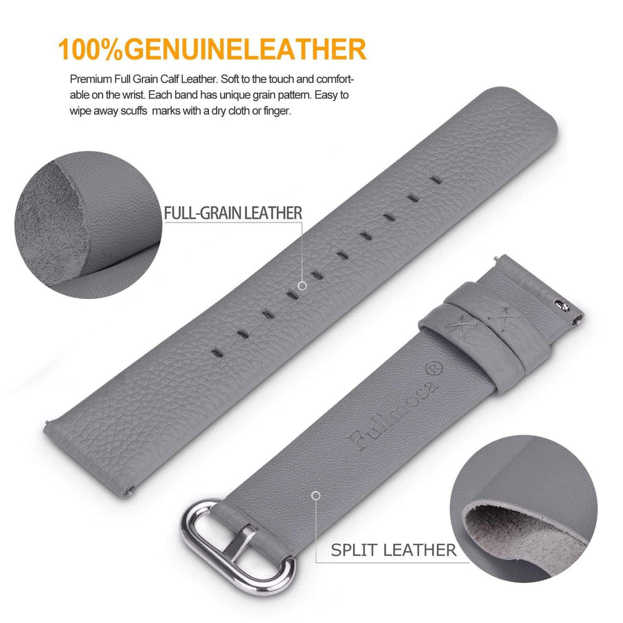 Grey | Litchi Leather Fullmosa