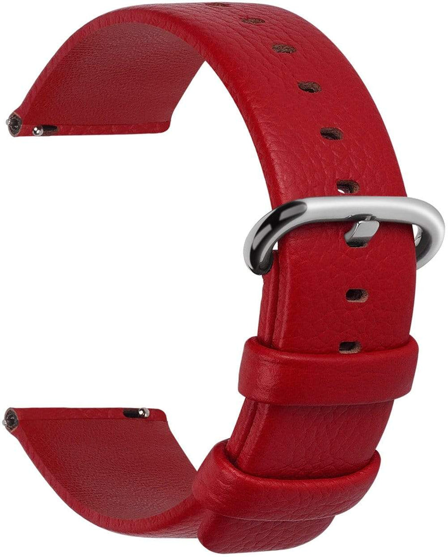 Red | Litchi Leather Fullmosa 18mm