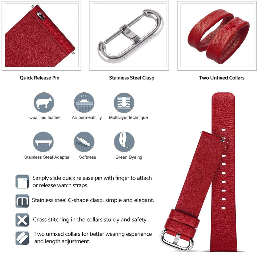 Red | Litchi Leather Fullmosa