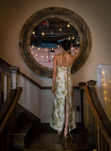 Load image into Gallery viewer, Gold and Ivory Sheath Dress