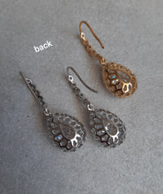 Load image into Gallery viewer, Cubic Zirconia crystal clear silver or gold tone drop earrings