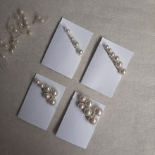 Load image into Gallery viewer, Swarovski crystal pearls set of 6 hair pins