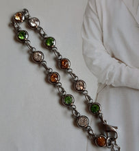 Load image into Gallery viewer, Stainless Steel and rhinestone chain bracelet