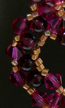 Load image into Gallery viewer, Regal red garnet and Swarovski crystal chandelier gold-tone drop earrings Bridesmaids