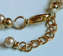Load image into Gallery viewer, Cream bronze glass bead pearls and seed beads long necklaces