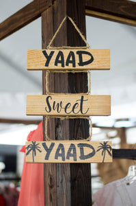 YAAD SWEET YAAD Wooden Sign