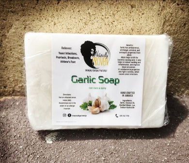 Hand Crafted Garlic Face & Body Soap