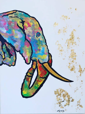 Elephant Abstract Painting