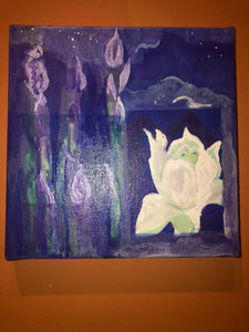 """White Ginger Lily"" Painting"