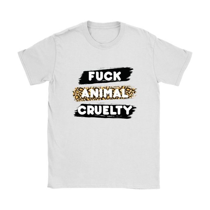 F*ck Animal Cruelty Womens Shirt - Kitty Swag Funny Cat T-shirts