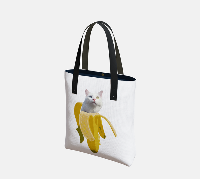 Banana Kitty Tote - Kitty Swag Funny Cat T-shirts
