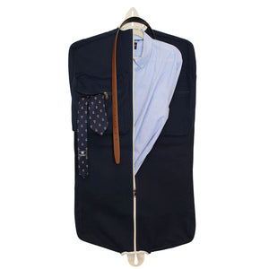 Navy Canvas Garment Bag