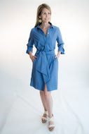 Gretchen Scott Chambray Blue Dress