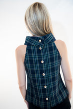 Load image into Gallery viewer, Cowl Neck Tartan Plaid Top