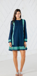Long Sleeve Embroidered Dress By Sail to Sable