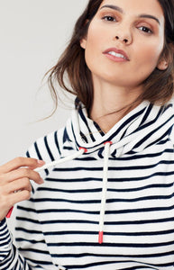 Mayston Funnel Neck Velour Sweatshirt By Joules