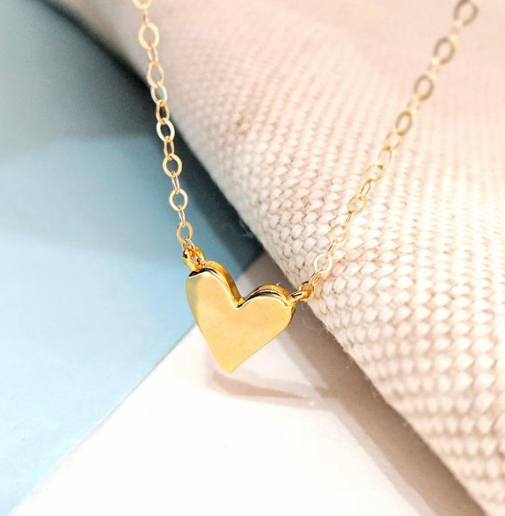 Heart Necklace By navyBLEU