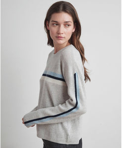 Kyla Cashmere Blend Stripe Sweater By Velvet Graham and Spencer