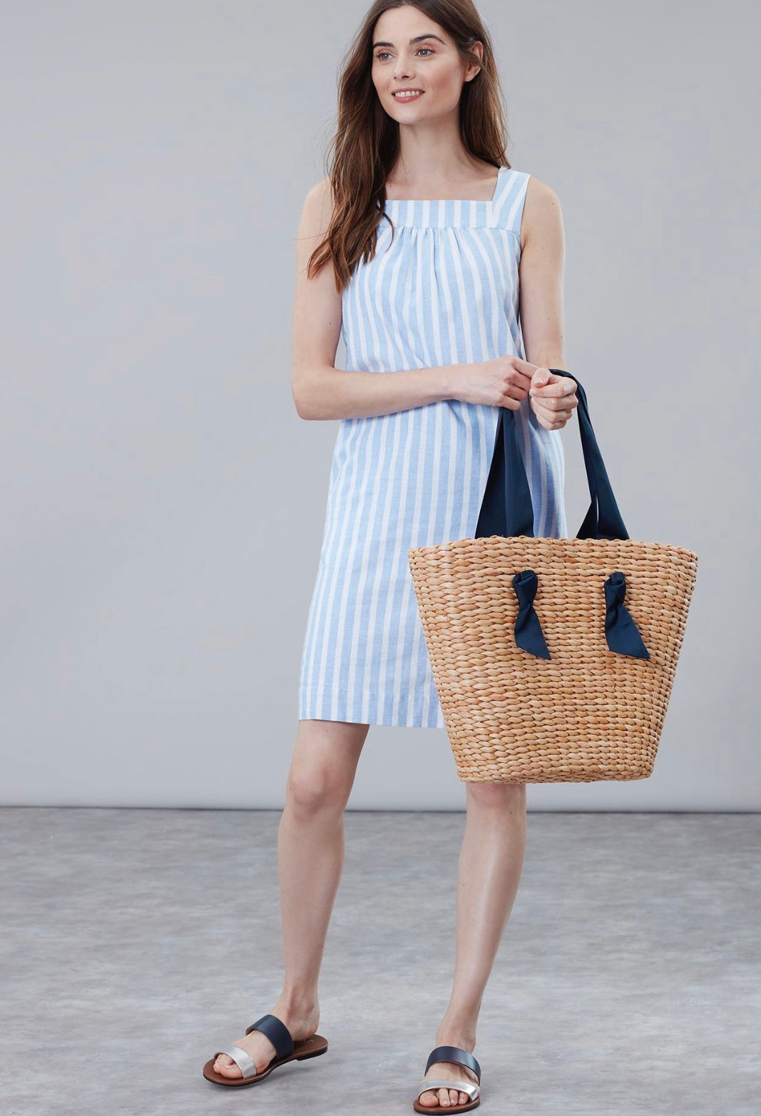 Albury Woven Straw Bag By Joules