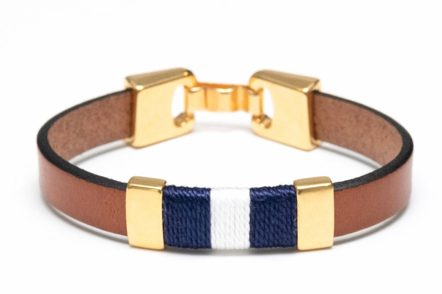 Bristol - Mahogany/Navy/White/Gold By Allison Cole Jewelry