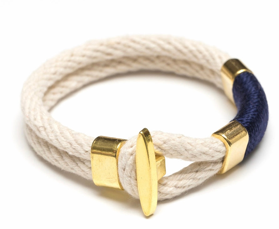 Cambridge - Ivory/Navy/Gold By Allison Cole Jewelry