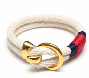 Deckard Bracelet - Ivory/Navy/Red/Gold By Allison Cole Jewelry