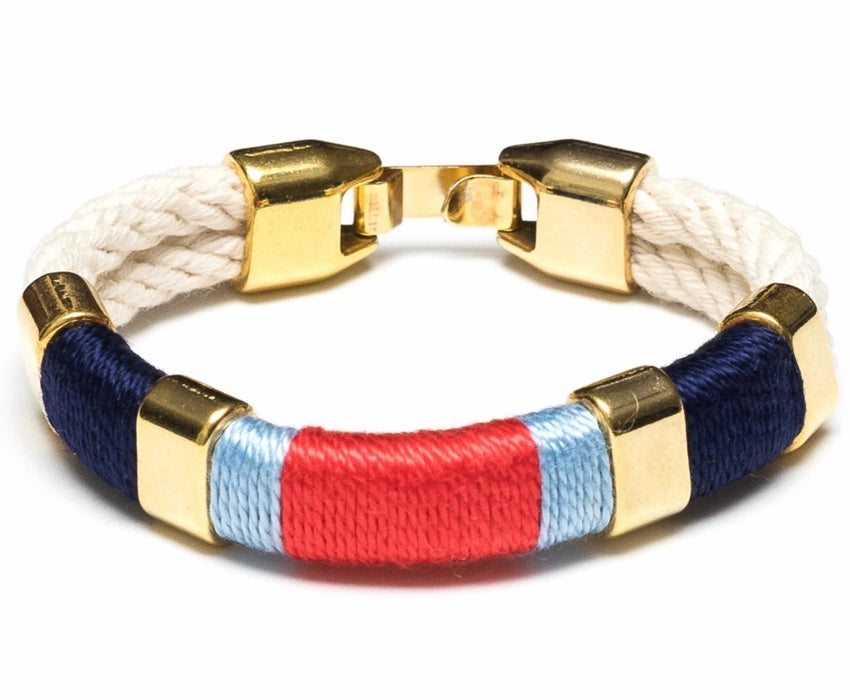Newbury - Ivory/Navy/Blue/Coral/Gold By Allison Cole Jewelry