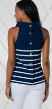 Load image into Gallery viewer, Cowl Neck Stripe Top By Sail to Sable