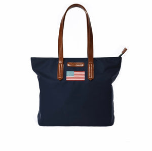 Martha Flag Handbag - Navy By Tello and Rose